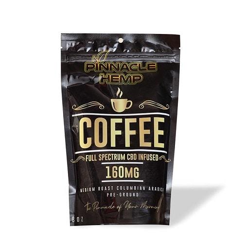 Best CBD Coffee - Pinnacle Hemp Full Spectrum CBD Ground Coffee Review