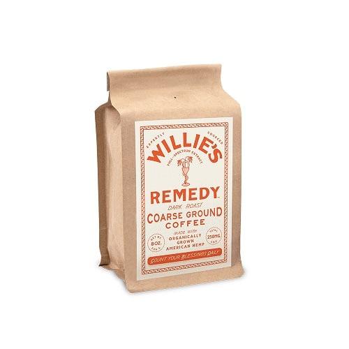 Best CBD Coffee - Willie's Remedy Hemp-Infused Dark Roast Blend Coffee Review