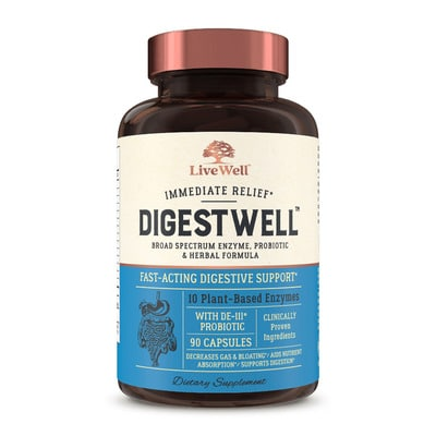 Best Digestive Enzymes - LiveWell Labs DigestWell