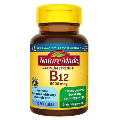 Best B12 Supplement - Nature Made Maximum Strength Vitamin B12 Softgels Review