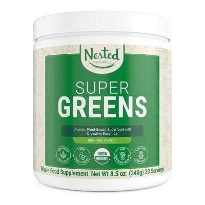 Best Spirulina Supplement - Nested Naturals Super Greens Original Review