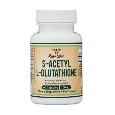 Best Glutathione Pills - Double Wood Supplements S-Acetyl L-Glutathione Capsules Review