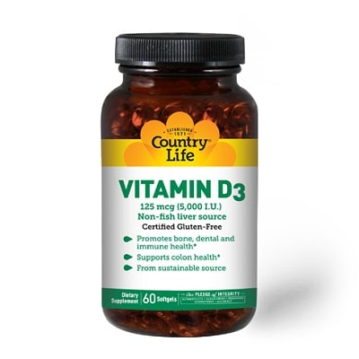 Best Vitamin D Supplements - Country Life Vitamin D3 Review