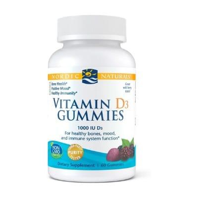 Best Vitamin D Supplements - Nordic Naturals Zero Sugar Vitamin D3 Gummies Review