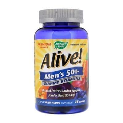 Best Multivitamin for Men - Nature's Way Alive! Men's 50+ Gummy Multivitamin Review