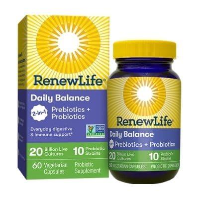 Best Prebiotics Supplement - RenewLife Daily Balance 2-in-1 Prebiotics + Probiotics Review